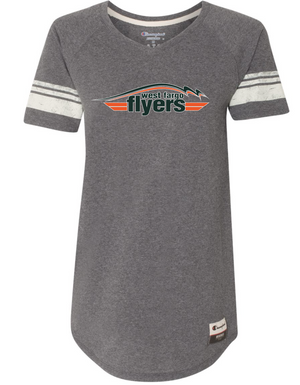 Flyers Women's TriBlend Varsity Short Sleeve T-shirt