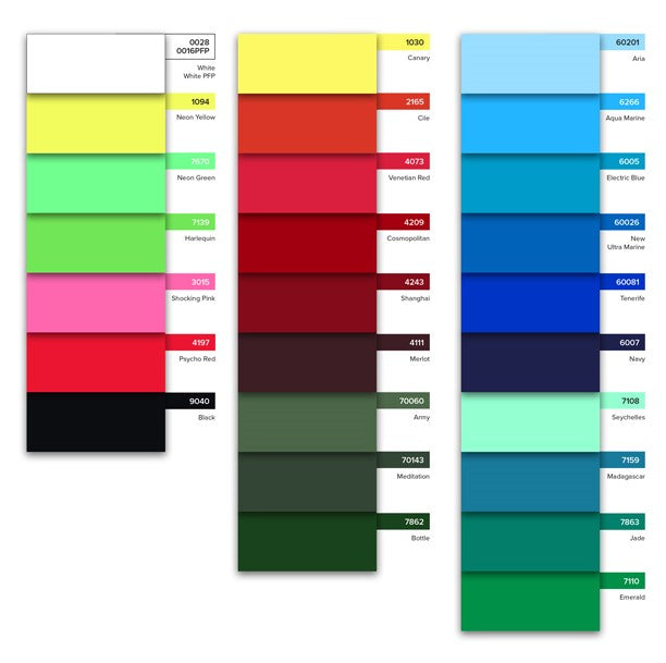 Bright Xtra Life Lycra - COLOUR CARD