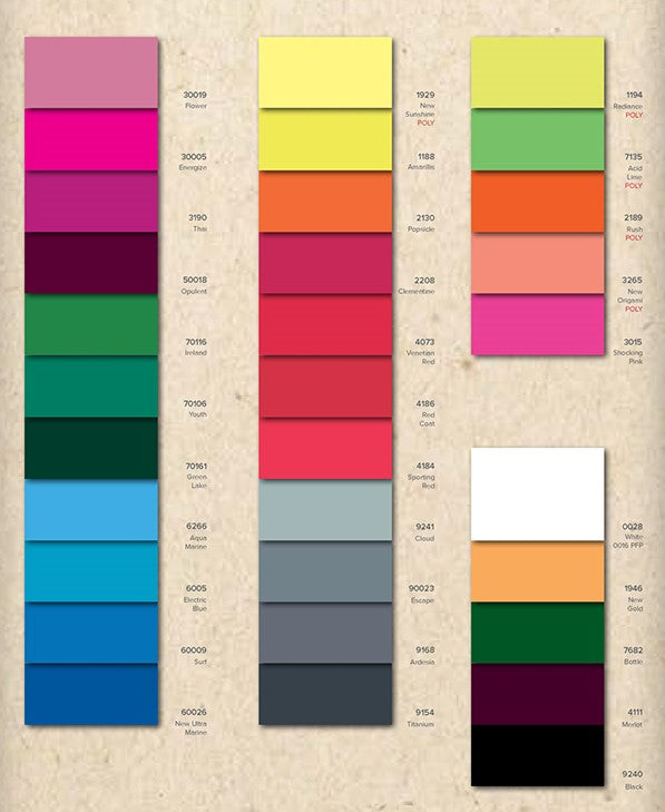 Advanced Recycled Vita Xtra Life Lycra - COLOUR CARD