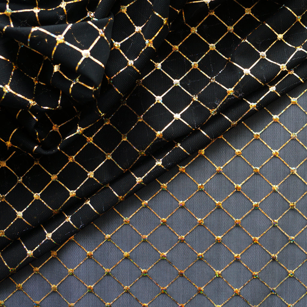 Diamante Mesh - Gold