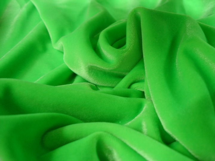 Stretch Velvet - Fluro Lime