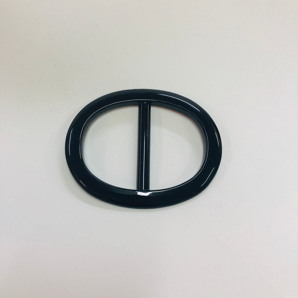 Buckle 01 - Large Black Oval