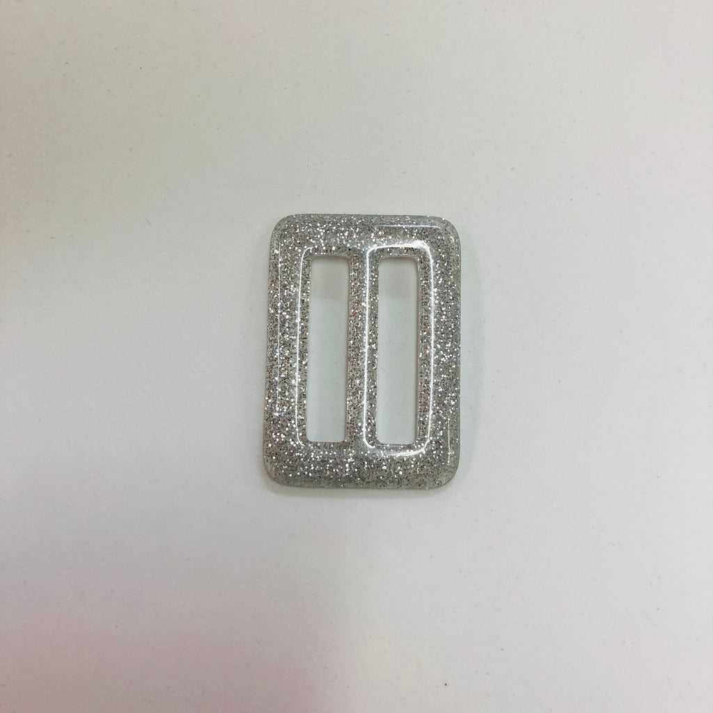 Buckle 02 - Silver Glitter Rectangle