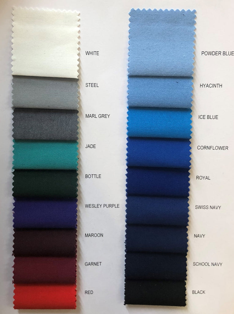Poly Viscose - Various Colours