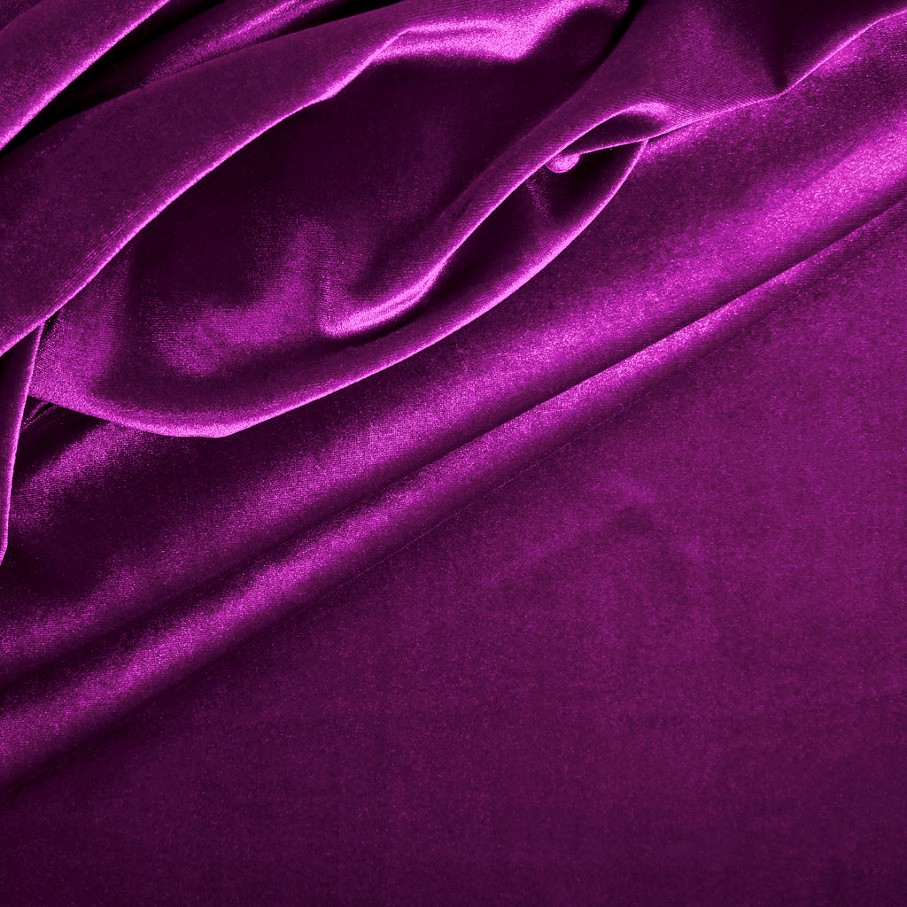 Stretch Velvet - Mulberry