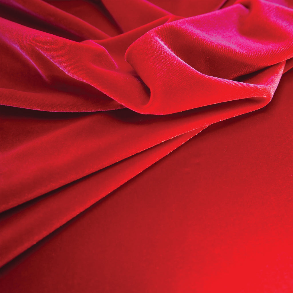Stretch Velvet - Red