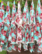 8 Bridesmaid Robes Pom Poms Floral Cotton Bridal Party Mint Kimono Festival Rustic Chic Wedding Robe Getting ready