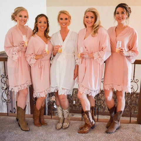Sommerville Wedding Day Robes in Blush - Shop On Eleven