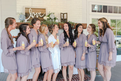 Sommerville Bridal Party Robes in Gray - Shop On Eleven