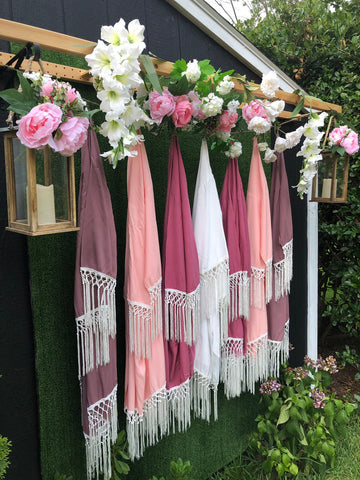 Bridesmaid Fringe Robe Boho Chic Bridal Party Robes -  Getting Ready Wedding Day - Shop On Eleven