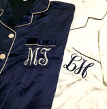 Pajamas for the Bridal Party, Bridesmaid Satin Short Set, Sleepover Bachelorette PJs, Personalized Monogrammed Gifts - Shop On Eleven