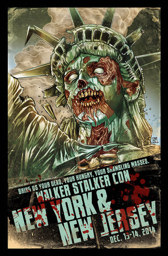 Walker Stalker Con New York / New Jersey 2014 Event Poster by Kirk Manley