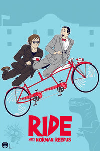 Ride With Norman Reedus With Pee Wee Poster Print by Amber Kipp