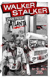 Walker Stalker Con Atlanta 2015 Event Poster by John Sloboda