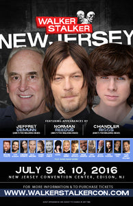 Walker Stalker Con New Jersey 2016 Event Poster