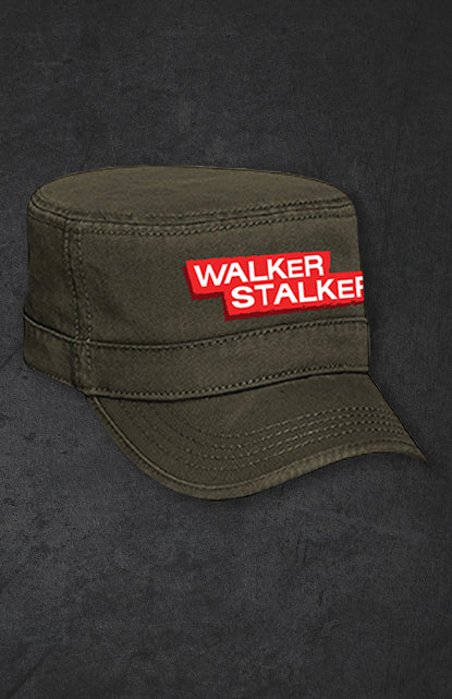 Walker Stalker Con Distressed Military Style Hat