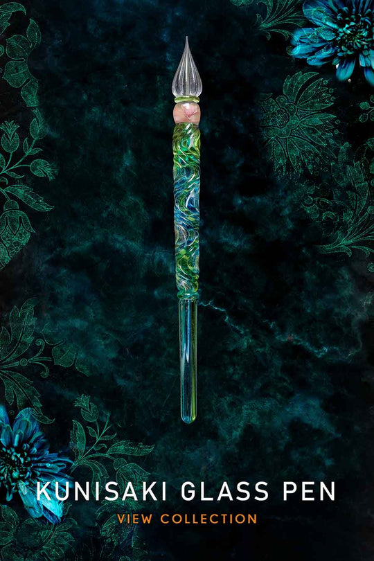 Kunisaki 国東 Glass is a unique glass dip pen collection which is handmade by experienced glass masters from Kunisaki, Japan