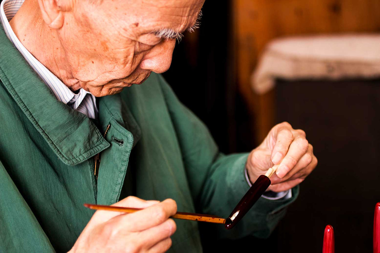 Master Taya is one of the top Masters in Japanese lacquerware creation