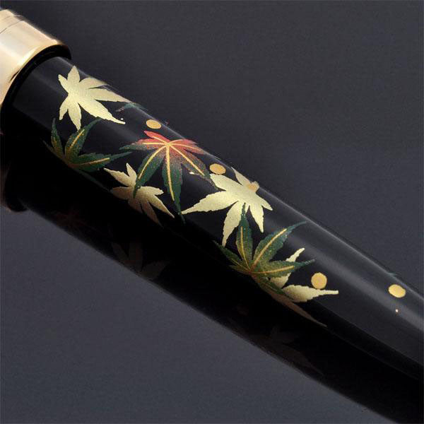 Oshita Maki-e - Autumn Leaves - Standard Size Ballpoint Pen - Wancher International