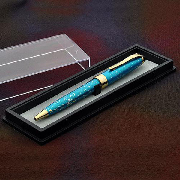 Oshita Maki-e Galaxy Ballpoint Pen - Elegant Blue Ballpoint Pen - Wancher International