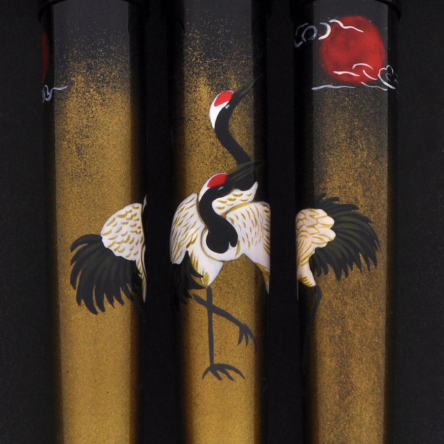 The Charm - Dancing Cranes - Gold Fountain Pen - Wancher International