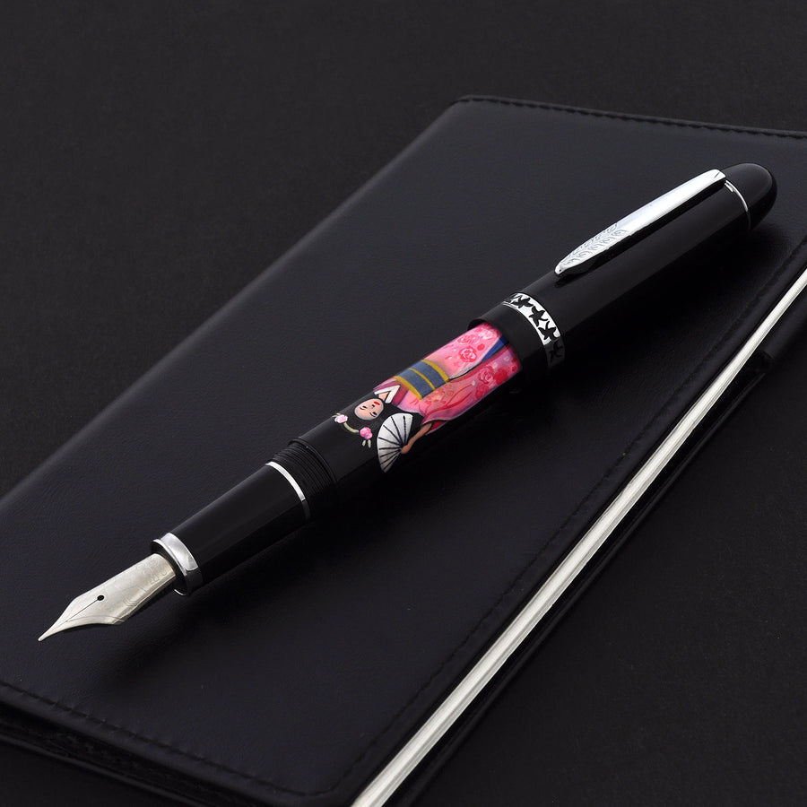 The Charm - Kimono and Sensui - Pink Fountain Pen - Wancher International
