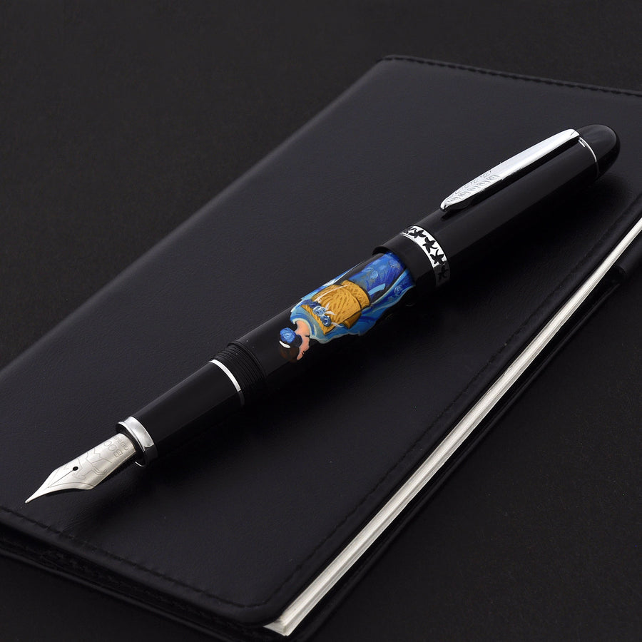 The Charm - Lady in Kimono - Blue Fountain Pen - Wancher Pen