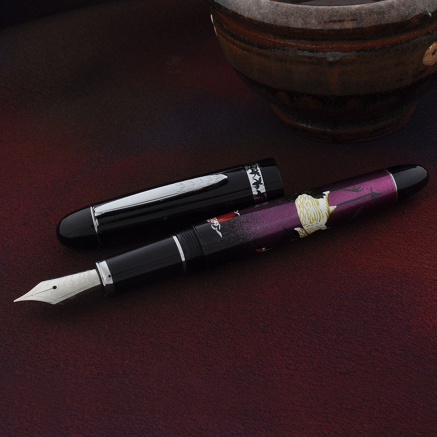 The Charm - Dancing Cranes - Lilac Fountain Pen - Wancher Pen
