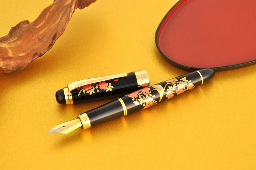 Oshita Maki-e Ume Kachou - Nightangle and Plum Flowers Fountain Pen - Wancher International