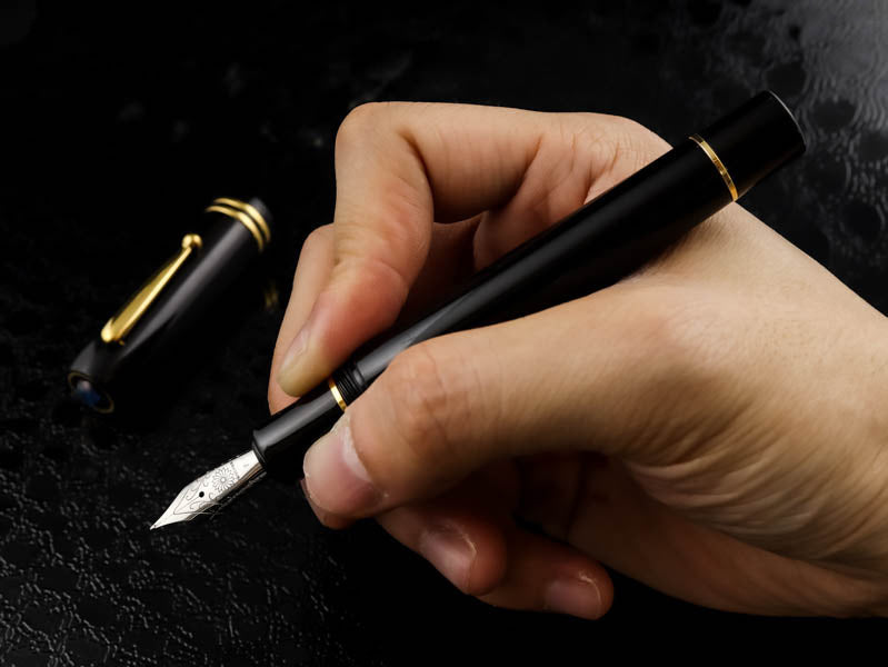 Seven Treasures - Ebonite Black Fountain Pen - Wancher Pen