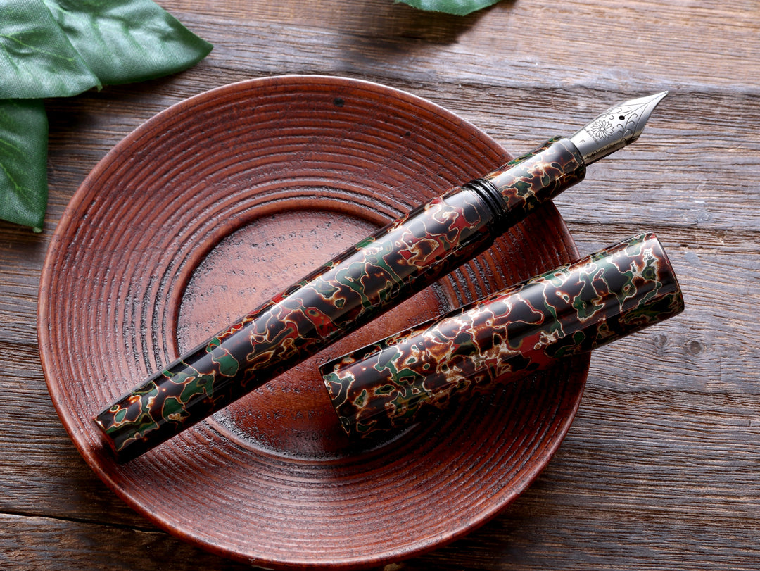 Zogan 桜の川 Sakura River - Matt Ebonite Fountain Pen - Wancher Pen