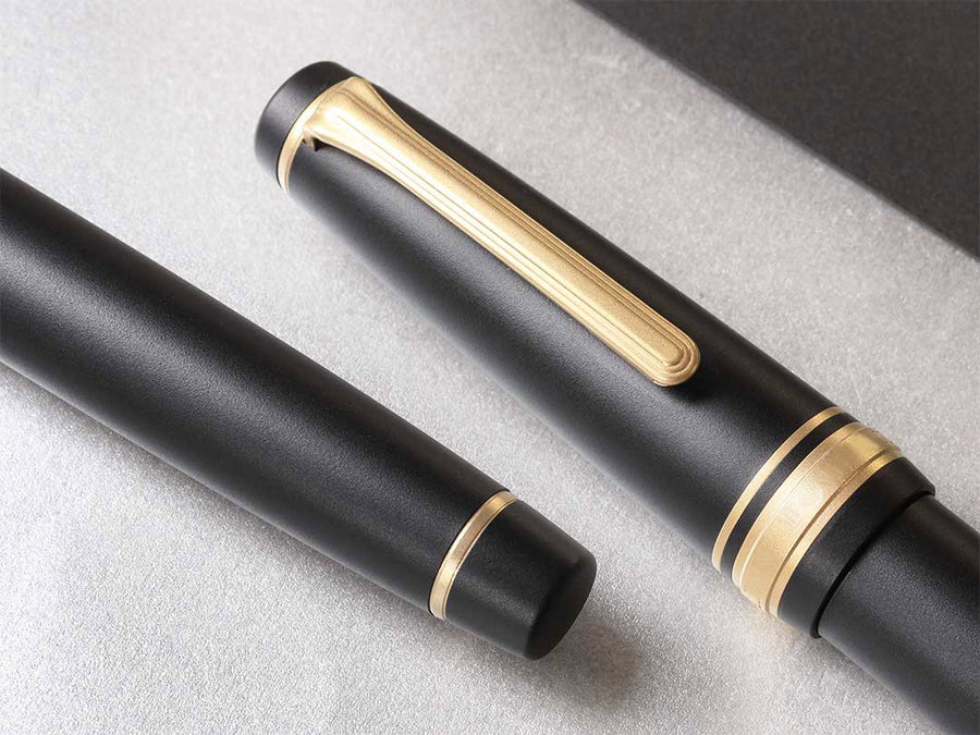 Sand Matte Gold Fountain Pen - Wancher Pen