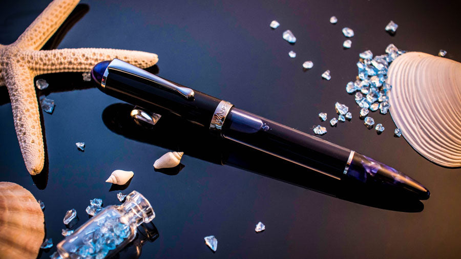Crystal Indigo Sapphire Fountain Pen - Wancher International