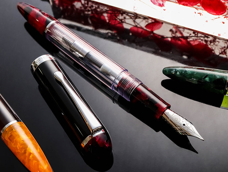 Crystal Ruby Red Fountain Pen - Wancher Pen