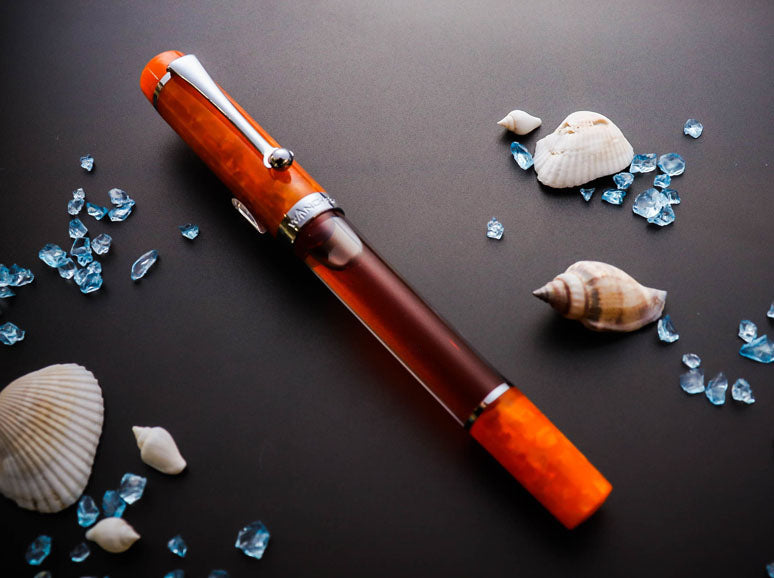 Crystal II - Fire Opal Fountain Pen - Wancher International