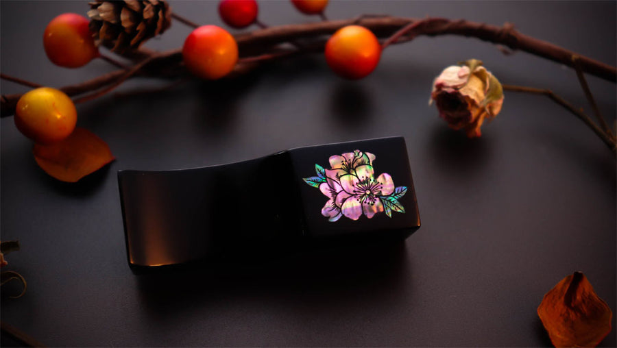 Urushi Pen Pillow - Ume - Japanese Plum Pen Pillow - Wancher International