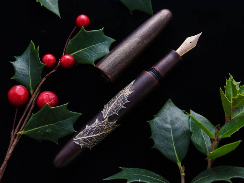 季映 Kiei Urushi - Holly Olive Akatame Fountain Pen - Wancher Pen