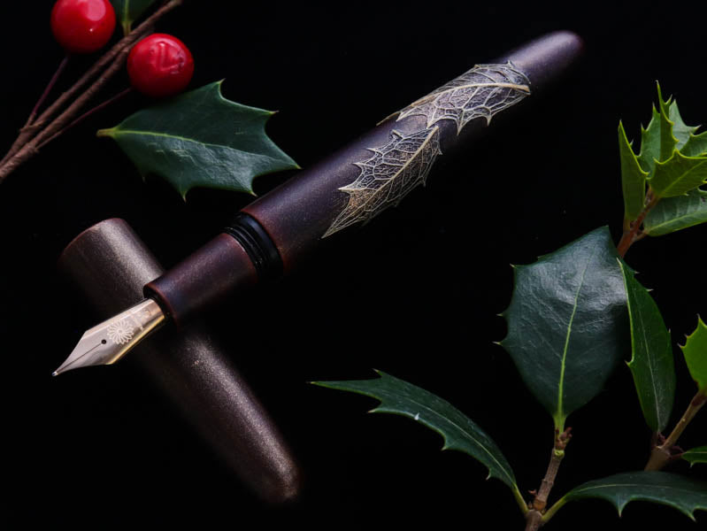 季映 Kiei Urushi - Holly Olive Akatame Fountain Pen - Wancher International