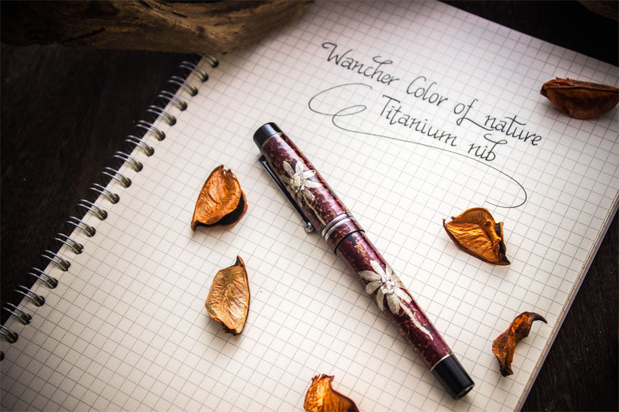 Colors of Nature - Cosmos - Titanium Nib Fountain Pen - Wancher Pen