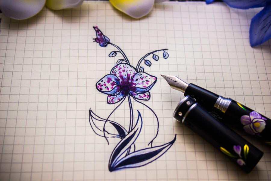The Charm - Cattleya Orchid Fountain Pen - Wancher International