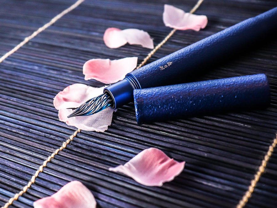 Shizuku Pen - Blue Moon Fountain Pen - Wancher International