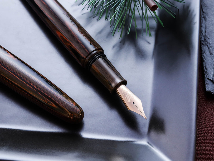 True Ebonite - Marble Brown Fountain Pen - Wancher Pen