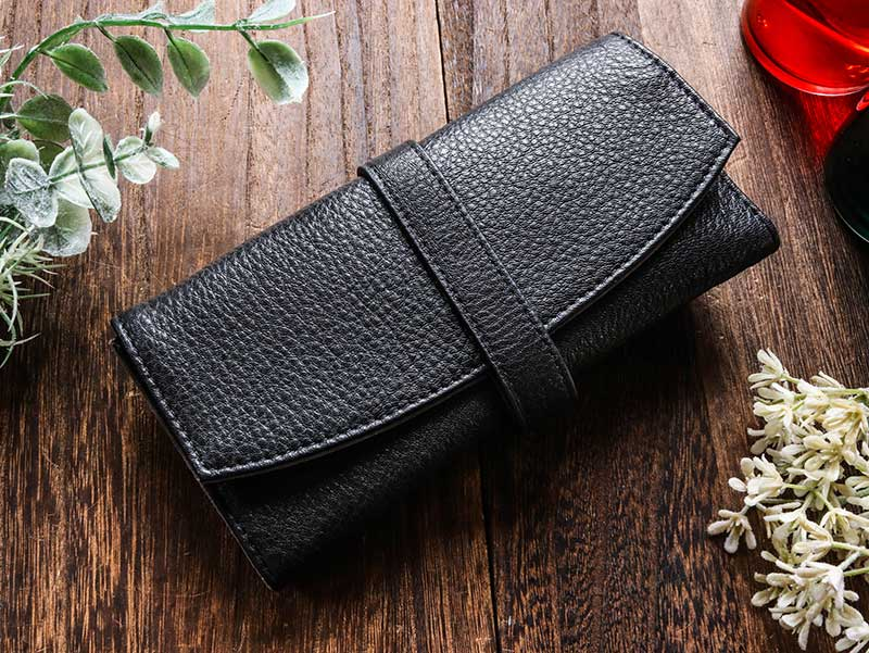Penfolium 5 Pen Roll Case - Black Pen Case - Wancher Pen