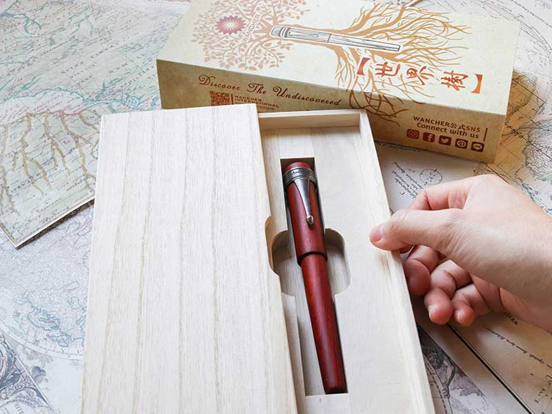 World Tree - Sandalwood Fountain Pen - Wancher Pen