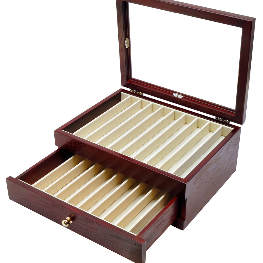 Kabazai Wooden Urushi Pen Display Case - 20 pens Pen Box (empty) - Wancher International