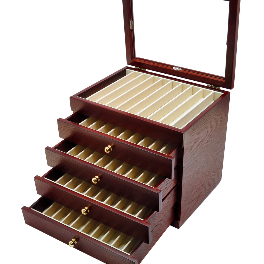 Kabazai Wooden Urushi Pen Display Case - 50 pens
