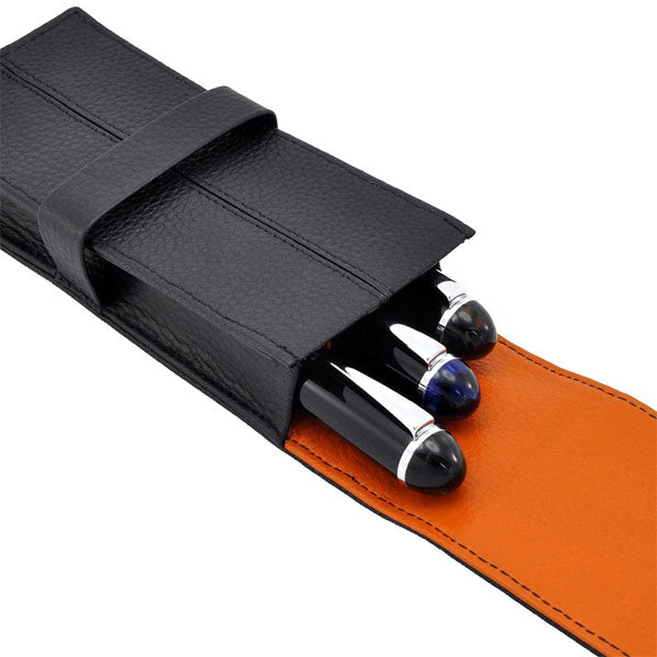 Penbrace 3 Pen Pouch - Black-Orange
