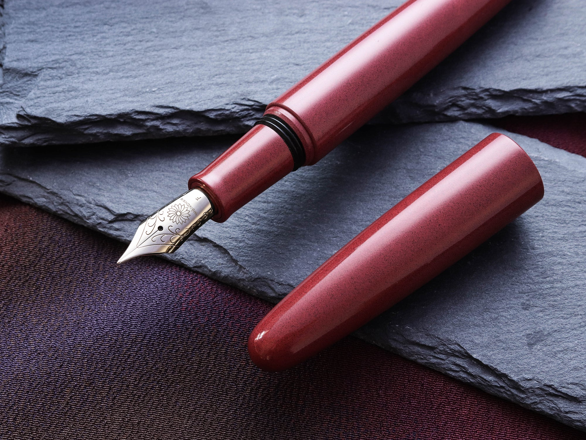 True Ebonite - Sand Red Fountain Pen - Wancher Pen
