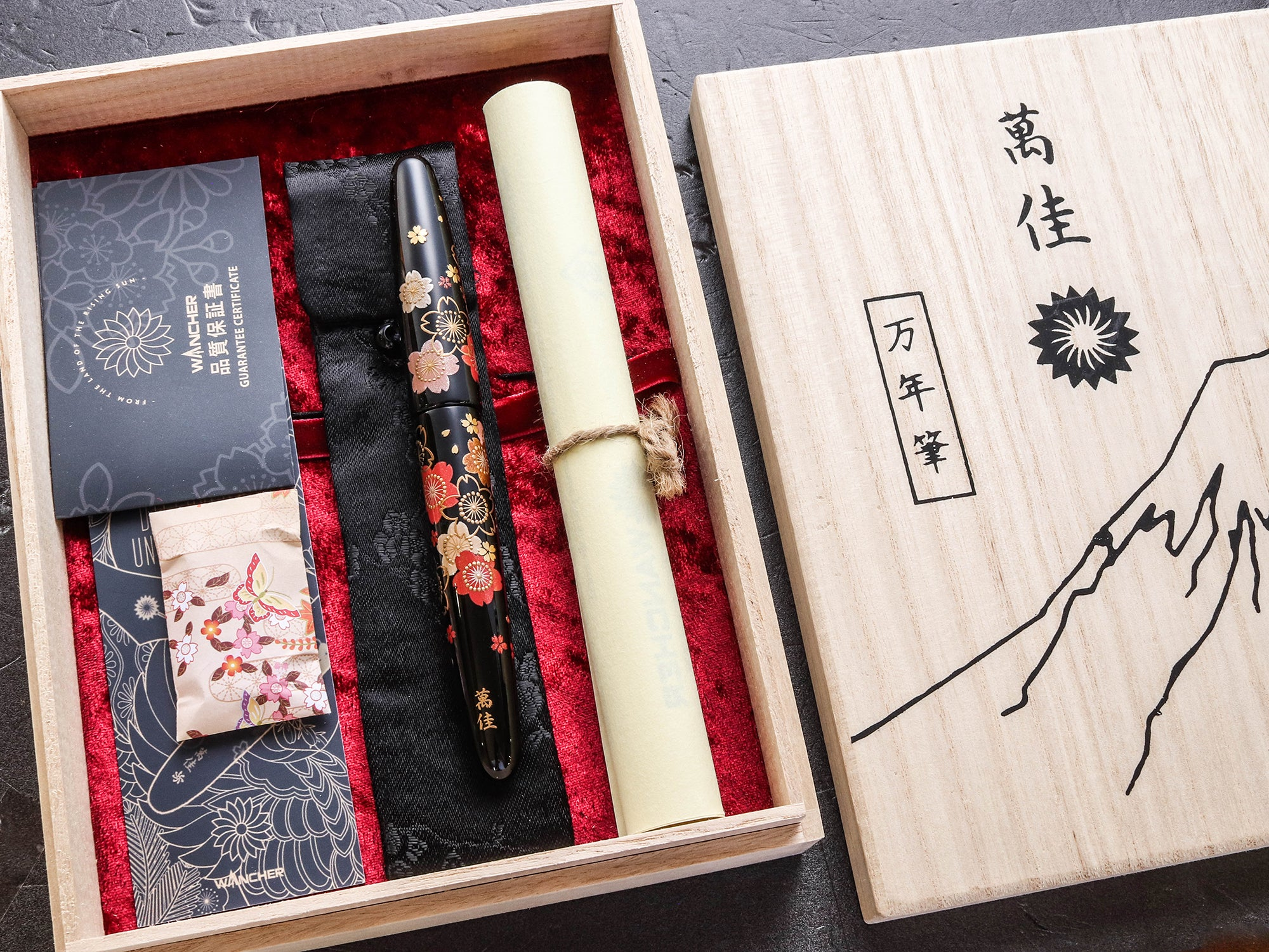True Maki-e - 桜 - Sakura Fountain Pen - Wancher Pen