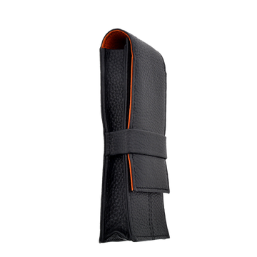 Penbrace 3 Pen Pouch - Black-Orange Pen Case - Wancher Pen